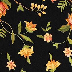Safavieh Hand-hooked Garden Black Wool Rug (8'9 x 11'9)