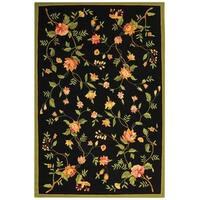"Safavieh Hand-hooked Garden Black Wool Rug - 8'9"" x 11'9"""