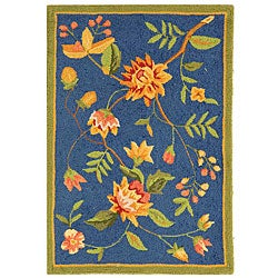 Safavieh Hand-hooked Garden Blue Wool Rug (1'8 x 2'6)