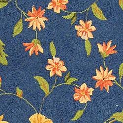 Safavieh Hand-hooked Garden Blue Wool Runner (2'6 x 10') - Thumbnail 1