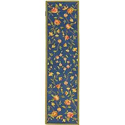 Safavieh Hand-hooked Garden Blue Wool Runner (2'6 x 10') - Thumbnail 0