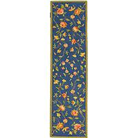 Safavieh Hand-hooked Garden Blue Wool Runner (2'6 x 12')