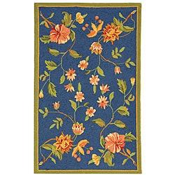Safavieh Hand-hooked Garden Blue Wool Runner (2'6 x 4')
