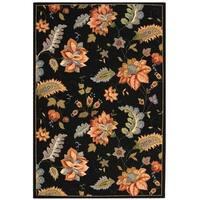 "Safavieh Hand-hooked Botanical Black Wool Rug - 7'9"" x 9'9"""