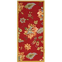 Safavieh Hand-hooked Botanical Red Wool Runner (2'6 x 6')