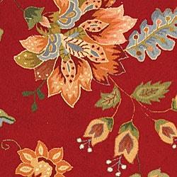 Safavieh Hand-hooked Botanical Red Wool Rug (8'9 x 11'9) - Thumbnail 1