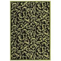 "Safavieh Hand-hooked Ferns Black/ Olive Wool Rug - 7'9"" x 9'9"""