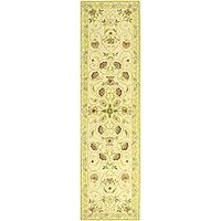 "Safavieh Hand-hooked Bedford Ivory/ Green Wool Runner - 2'-6"" x 10'"