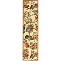 Safavieh Hand-hooked Transitional Ivory Wool Runner Rug - 2'6 x 12'