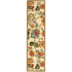Safavieh Hand-hooked Transitional Ivory Wool Runner (2'6 x 8')