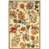 "Safavieh Hand-hooked Transitional Ivory Wool Rug - 5'3"" x 8'3"""