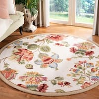 Safavieh Hand-hooked Transitional Ivory Wool Rug - 8' x 8' Round
