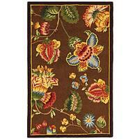 Safavieh Hand-hooked Transitional Brown Wool Runner (2'6 x 4')