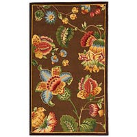 Safavieh Hand-hooked Transitional Brown Wool Rug - 2'9' x 4'9'