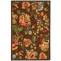 Safavieh Hand-hooked Transitional Brown Wool Rug - 3'9 x 5'9