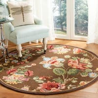 Safavieh Hand-hooked Transitional Brown Wool Rug - 4' x 4' Round
