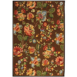 Safavieh Hand-hooked Transitional Brown Wool Rug (5'3 x 8'3)