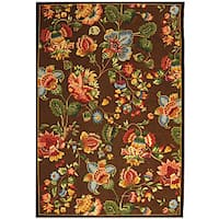 Safavieh Hand-hooked Transitional Brown Wool Rug - 5'3 x 8'3