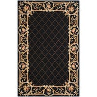 """Safavieh Hand-hooked Transitional Brown Wool Rug - 8'-9"""" x 11'-9"""""""
