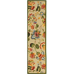 Safavieh Hand-hooked Transitional Sage Wool Runner (2'6 x 12')