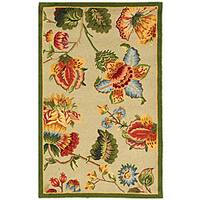 Safavieh Hand-hooked Transitional Sage Wool Runner (2'6 x 4')