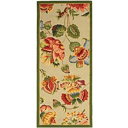 Safavieh Hand-hooked Transitional Sage Wool Runner (2'6 x 6')