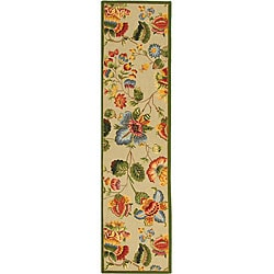 Safavieh Hand-hooked Transitional Sage Wool Runner (2'6 x 8')