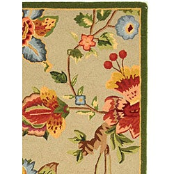 Safavieh Hand-hooked Transitional Sage Wool Rug (3'9 x 5'9)