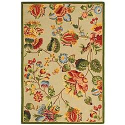 Safavieh Hand-hooked Transitional Sage Wool Rug (3'9 x 5'9)