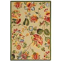 Safavieh Hand-hooked Transitional Sage Wool Rug - 3'9 x 5'9