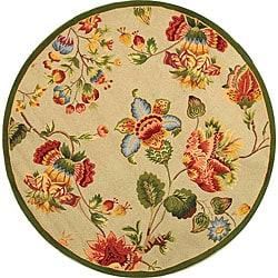 Safavieh Hand-hooked Transitional Sage Wool Rug (4' Round)