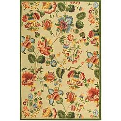 Safavieh Hand-hooked Transitional Sage Wool Rug (5'3 x 8'3)