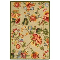 "Safavieh Hand-hooked Transitional Sage Wool Rug - 5'3"" x 8'3"""