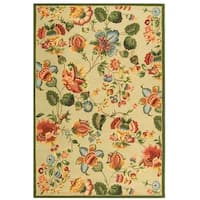 Safavieh Hand-hooked Transitional Sage Wool Rug - 6' x 9'