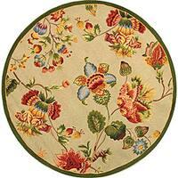 Safavieh Hand-hooked Transitional Sage Wool Rug - 8' x 8' Round