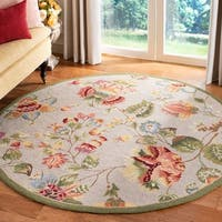 Safavieh Hand-hooked Transitional Sage Wool Rug - 8' x 8' Round