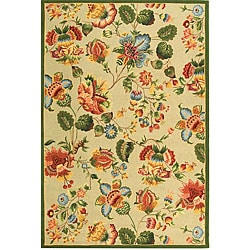 Safavieh Hand-hooked Transitional Sage Wool Rug (8'9 x 11'9)