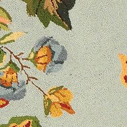 Safavieh Hand-hooked Oasis Light Blue Wool Rug (2'9 x 4'9)