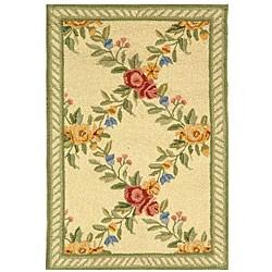 Safavieh Hand-hooked Garden Trellis Ivory Wool Rug (1'8 x 2'6)