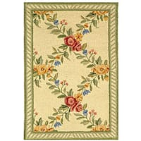 Safavieh Hand-hooked Garden Trellis Ivory Wool Rug - 1'8 x 2'6