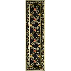 Safavieh Hand-hooked Garden Trellis Black Wool Runner (2'6 x 12')