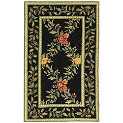 Safavieh Hand-hooked Garden Trellis Black Wool Runner (2'6 x 4')