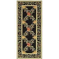 Safavieh Hand-hooked Garden Trellis Black Wool Runner (2'6 x 6')