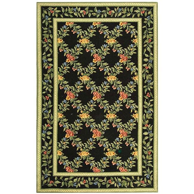 Shop Safavieh Hand Hooked Garden Trellis Black Wool Rug
