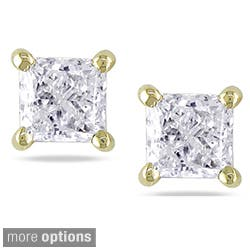 Miadora 14k Gold 3 4 To 2ct Tdw Princess Cut Diamond Stud Earrings