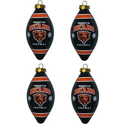 Chicago Bears Teardrop Ornaments (Set of 4) - Thumbnail 0
