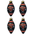 Chicago Bears Teardrop Ornaments (Set of 4)