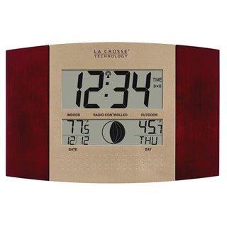 La Crosse Technology WS-8117U-IT-C Atomic Wall Clock with Temperature