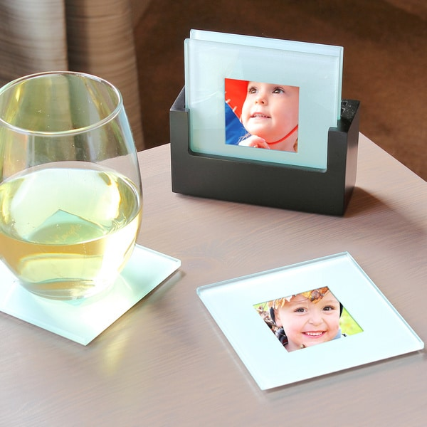 Picture Coasters and Holder Set