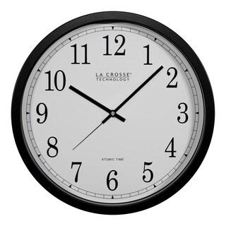 La Crosse Technology WT-3143A 14 Inch Black Atomic Analog Wall Clock